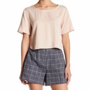Native Youth Brushed Herringbone Checkered Shorts